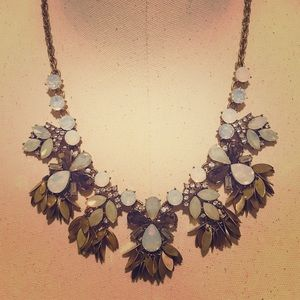 Stunning LOFT Opal Statement Necklace adjustable